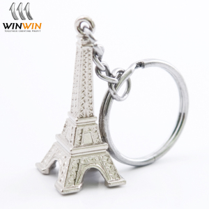 2018 hot sale custom 3d metal key chain,soft enamel colorful keychain with gold ring