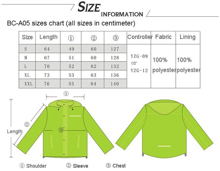 f29a1cccac Led Flashing Green Womens Ski Jacket Foldable Ladies Fancy Jacket ...