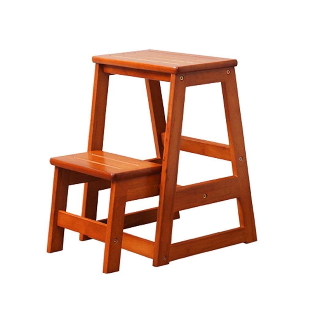 get quotations step stools solid wood folding wooden creative 2 step ladder stool dual purpose kitchen - Kitchen Step Ladder