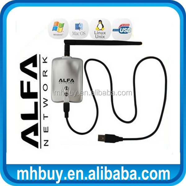 High power ALFA AWUS036H 1000mw wifi usb adapter 5db antenna Realtek8187L Chipset network card
