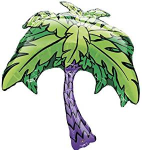 "Single Source Party Supplies - 33"" Palm Tree Shape Mylar Foil Balloon"