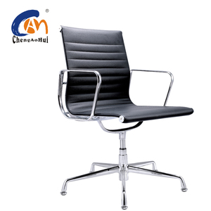 Modern Swivel No Wheels Rotating Office Chair With Strong Base