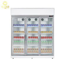 Restaurant Commercial supermarket used glass door beverage fridge freezer vertical