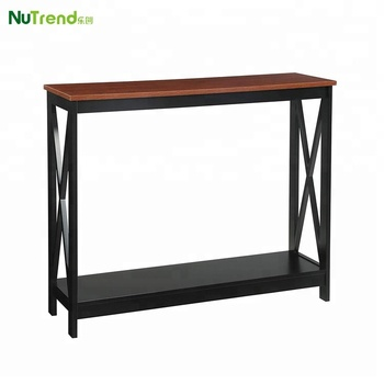Wood Fancy Console Table With Shelf Hallway Furniture Product On