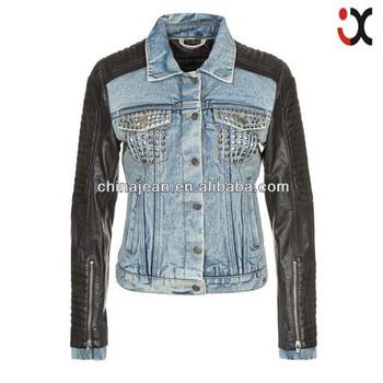 2017 stylish denim jackets for women lady jeans jacket lady leather denim  jacket (JXJ24818) 45e4294294