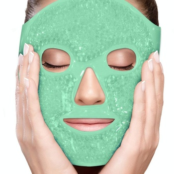 Get rid of puffy eyes migraine relief sleeping travel therapeutic hot cold compress pack gel bead Spa therapy face facial mask