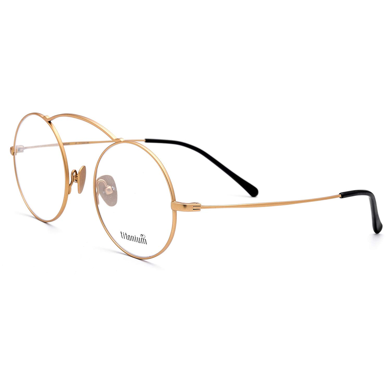 fb51502102b Get Quotations · FONEX 100% Pure Titanium Prescription Optical Glasses  Frame Eyewear 7701