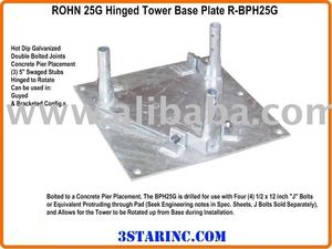 Rohn 25G Tower Hinged Base Plate R-BPH25G