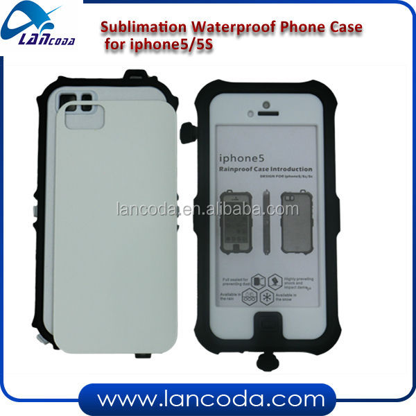 Hot Selling Sublimation Waterproof Phone Case for iPhone5/5S,Dirt/Shock Proof