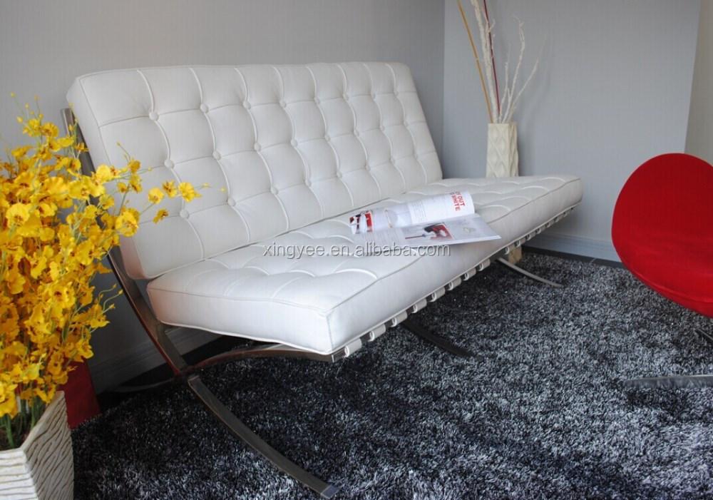 Moderna Sala De Estar Muebles De Salón Silla Con Otomana Cuero ...