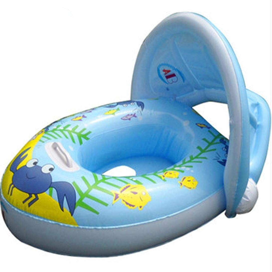 Gbell Swim Float Seat Boat for Baby Toddlers Infants,Pool Inflatable Safe Raft Kid Swimming Ring Water Car