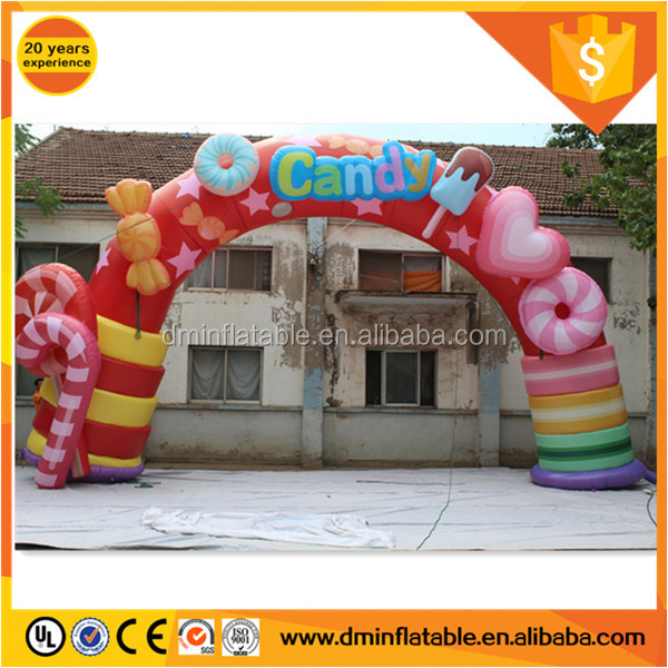 Event decoration colorful candy inflatable arch C-439