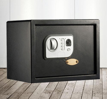 fashionable black Fingerprint lock special wall safe box