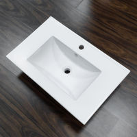 Bathroom different size thin rectangular cabinet basin sink