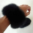 Luxury Women Removable Hand Warmer Fox Fur Cuffs For Women