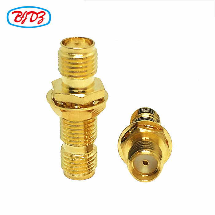 RF Coaxial cable connector SMA female bulkhead to female adapter BH SMA jack to jack