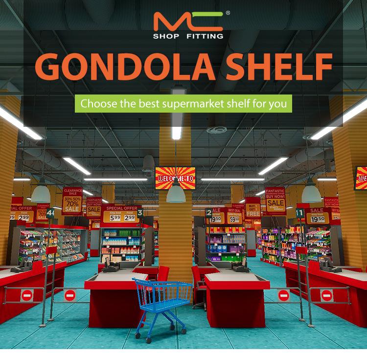 Tego Logam Gondola Rak Supermarket