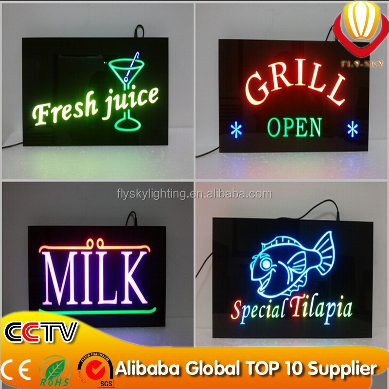 Acrylic Material Open Light Box Sign Led Sign Board