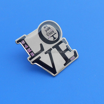 Valentine's Day & Wedding Decoration Love Letter Romantic Printing Lapel  Pin - Buy Valentines Day Wholesale Decorations,Printing Love Style Lapel