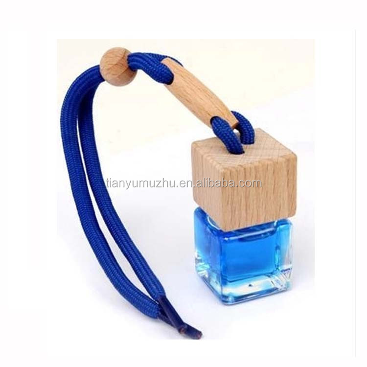 8ml high quality wood cap car perfume hanging decorations for gift