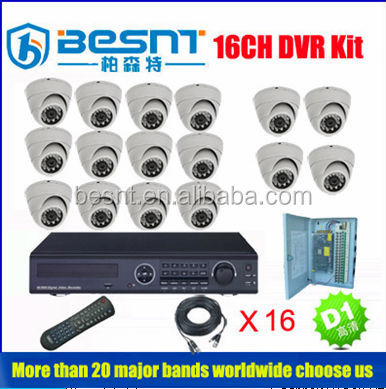 Hotsale CCTV System 960H HD DVR 16 Channels IR Dome Camera 1000TVL Camera Kit Security Camera Kit (BS-T16N15)