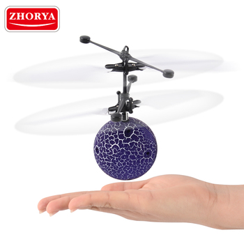 Zhorya infrared induction ball drone flashing flying ball helicopter with led