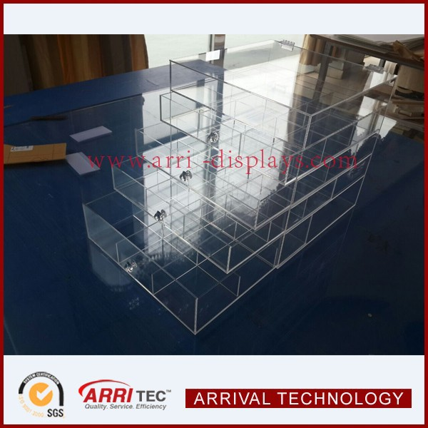 5 drawer with # divider large acrylic makeup organizer