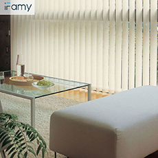 Chinese Manufacture Direct Best selling 89mm Gray window Vertical blind curtain for sliding door