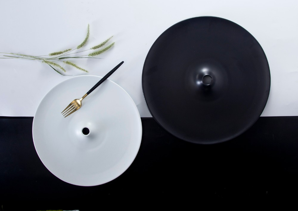 product-Two Eight-Stylish new design porcelain tableware black matte dinner plate-img-1