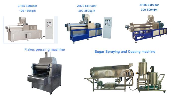 corn flakes processing machine