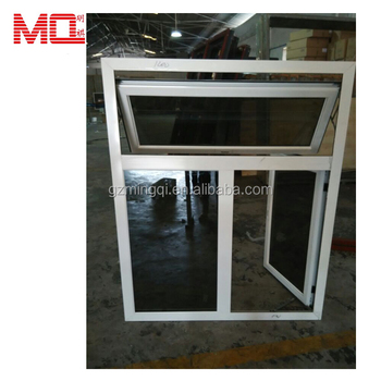 Powder coated white aluminum windows for sale in guangzhou