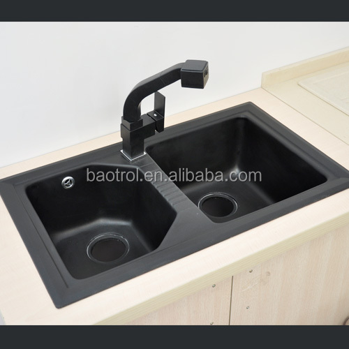 Quartz Kitchen Single Sinks/hard Quartz Stone Kitchen Sink/black ...
