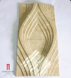 craving marble tile 15mm thickness beige color marble