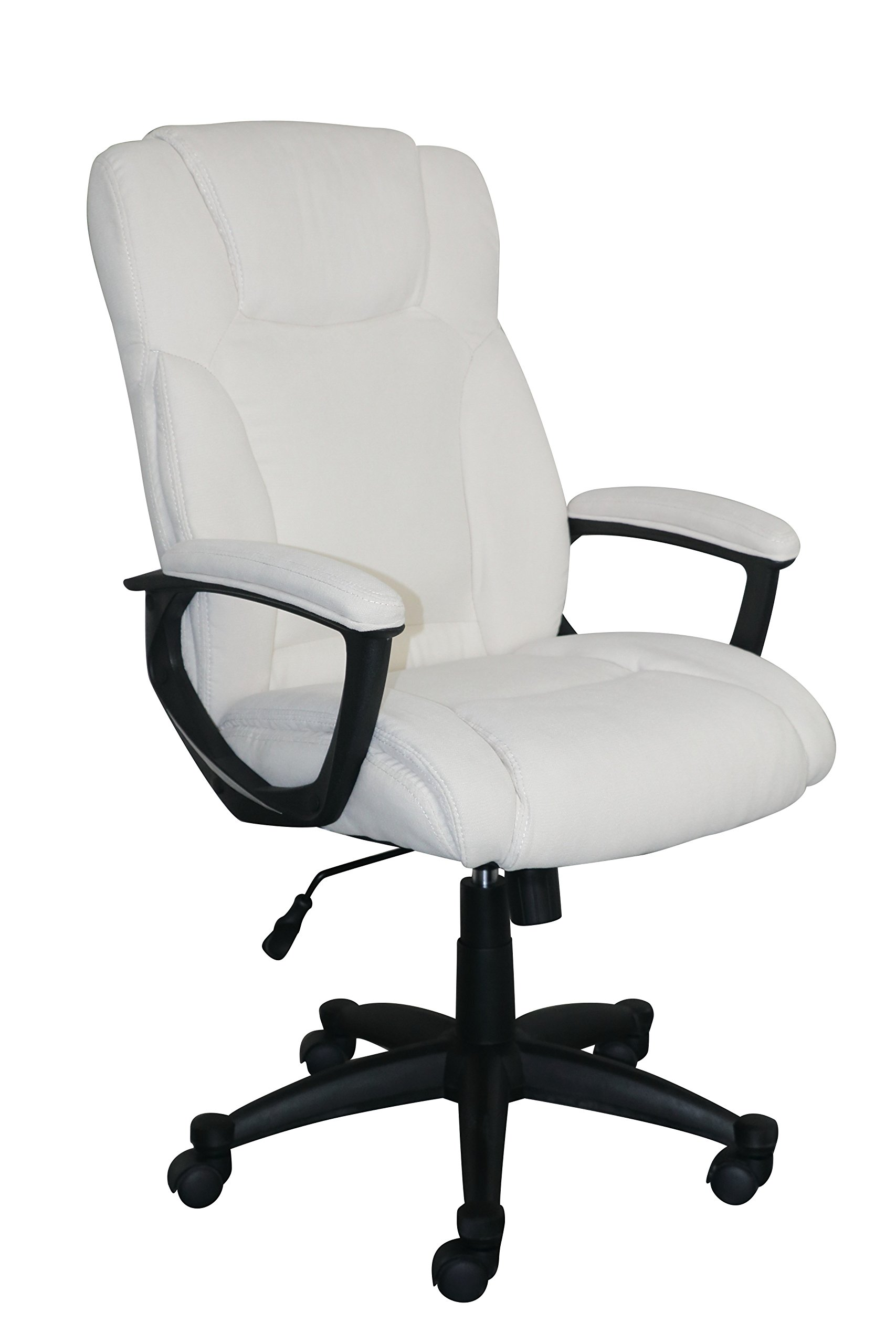 Serta Style Hannah II Office Chair, Microfiber, Ivory