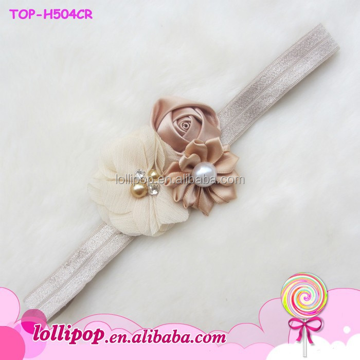 2015 flower hair band,sliver flowers headband,hair accessories