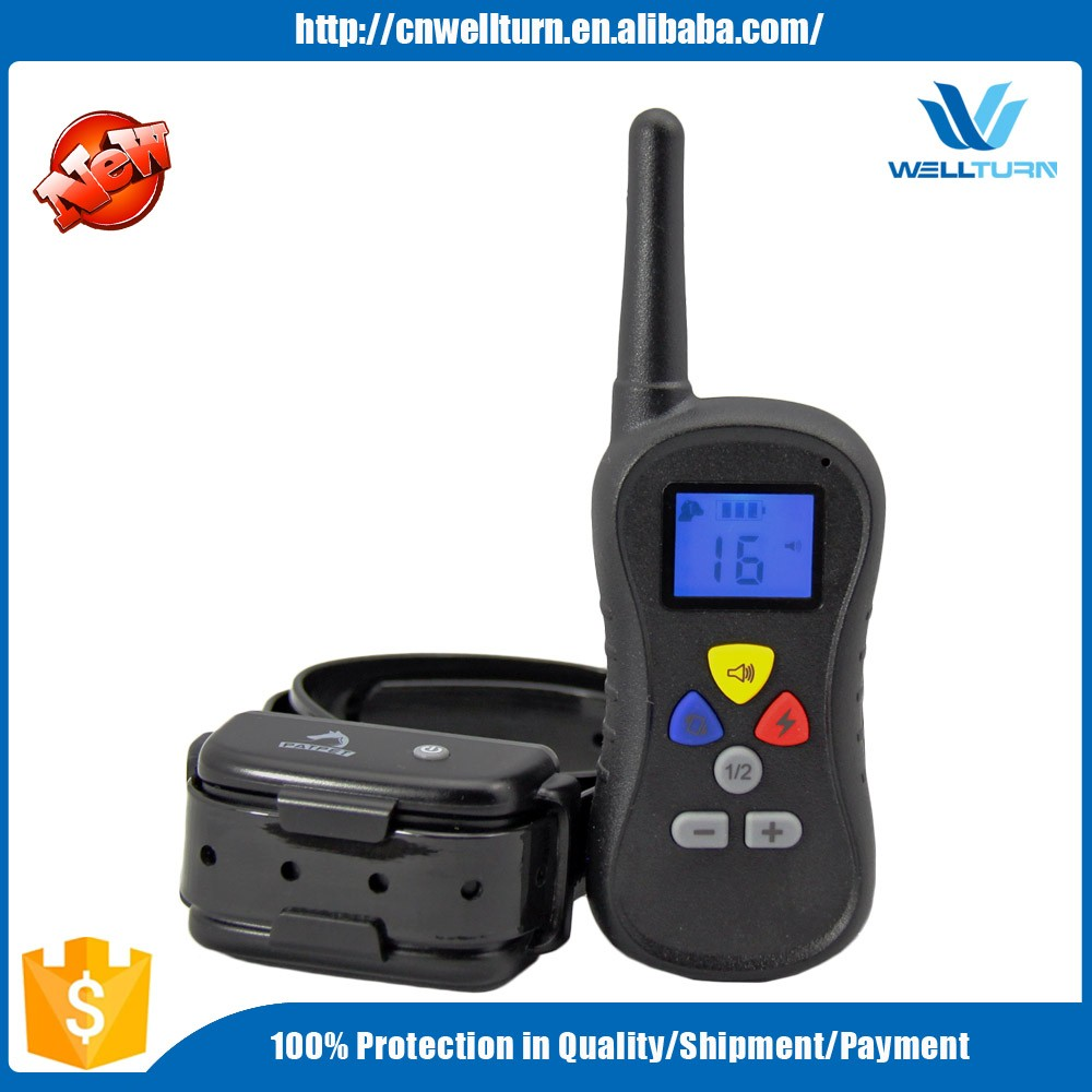 2016 LCD Display Dog Electric Collar Dog Training Shock and Vibrator Device