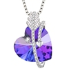 40101 xuping 925 sterling silver color heart necklace crystals from Swarovski