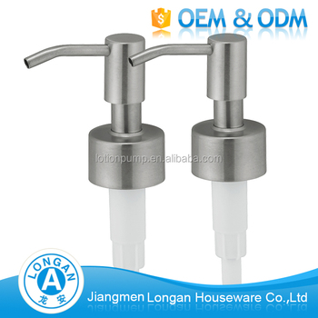 Factory Oem Odm Stainless Steel 304 Washing Hand 24 400 Liquid Soap Dispenser Pump