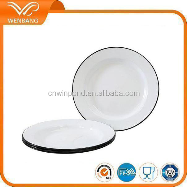 enamel tin dinner plates with decal  sc 1 st  My Psdc & List Manufacturers of Tin Dinner Plates Buy Tin Dinner Plates Get ...