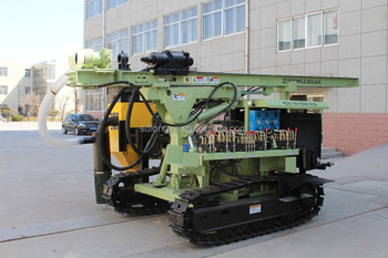 DTH gold mining drilling rig with dust collector
