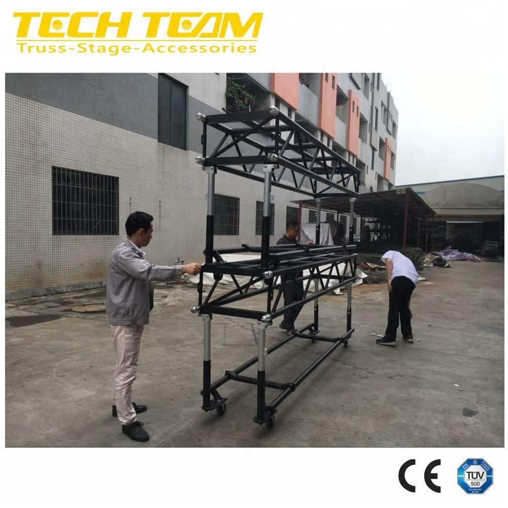 Aluminium Pre-Rigger Truss with wheels to hang lights