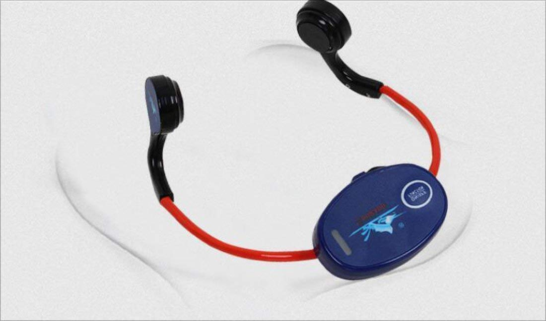 Hzhy Bone Conduction Swimming Teaching Water Sports Swimming Bone Conduction Teaching Headphones IXP8 Waterproof Headphones Military Bone Conduction Headphones (UnitCount : Nine headphones one host)