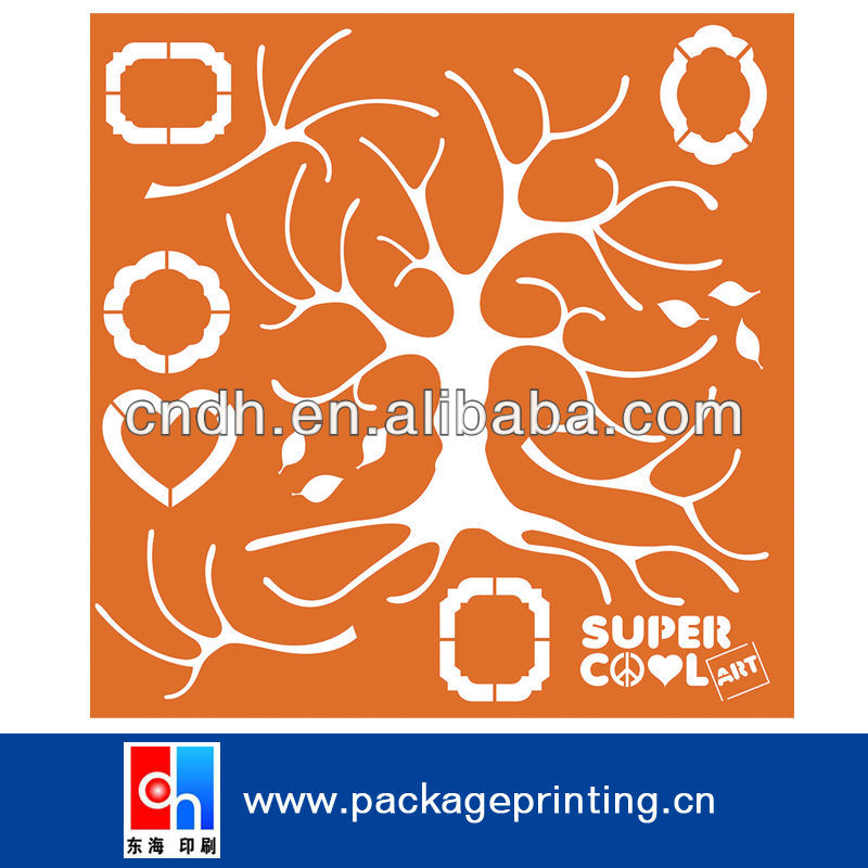 Wall Painting stencil sheets plastic