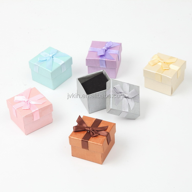 5*5*3 pearl paper jewelry box ring earrings packing gift box