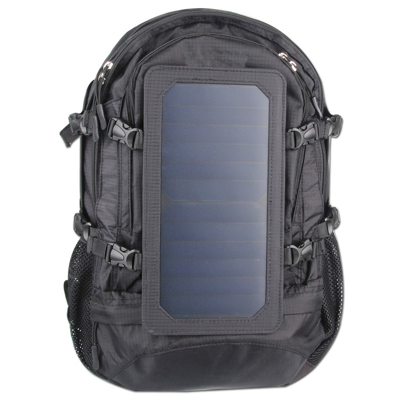 Free Sample 2016 Waterproof Solar Backpack Bag Daylife