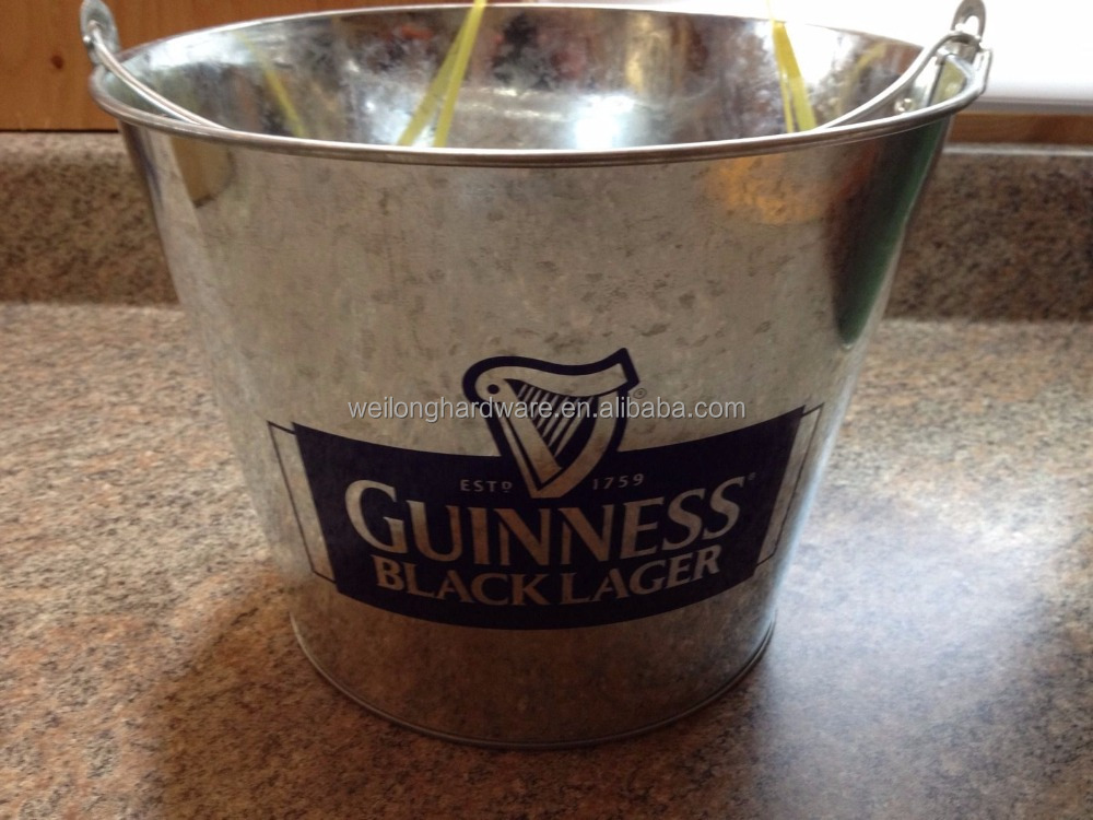 Promotional Retro Metal Beer Ice Bucket, Tin Ice Bucket, Customized Metal Party Tubs