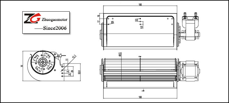 ventilador de fluxo cruzado / ventilador de fluxo cruzado