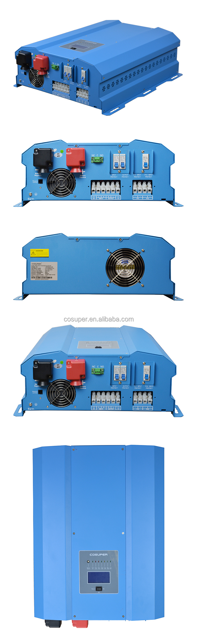 8000w Power Inverter Dc 12v Ac 220v Circuit Diagram 48v Pure Also Sine Wave Solar