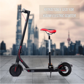 Electric Scooter Parts Retractable Seat With Bumper For Xiaomi M365 Scooter  - Buy Electric Scooter Parts,Scooter With Removable Seat,Xiaomi Scooter