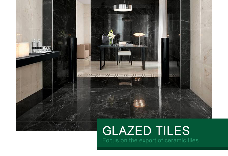 Ceramics Tiles Polish Malaysia Glazed Nero black Marquina Color Flooring Tile Foshan Ceramic Tiles 600X1200Mm